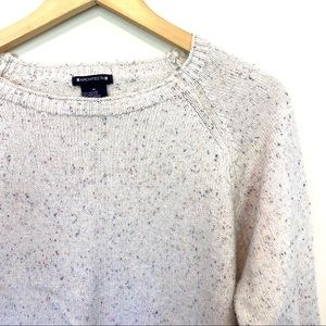 🌸 Architect Speckled White Knit Sweater Size M